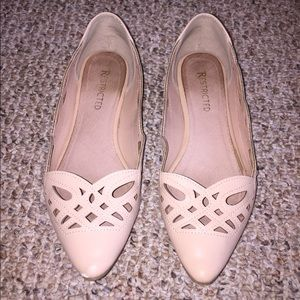 Restricted Cutout Cream Flats